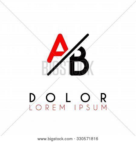 Logo A Slash B With Black Red