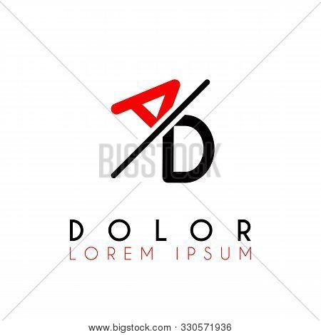Logo A Slash D With Black Red