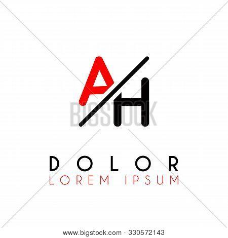 Logo A Slash H With Black Red