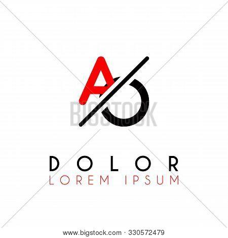 Logo A Slash O With Black Red