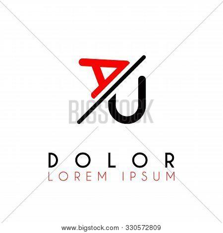 Logo A Slash U With Black Red
