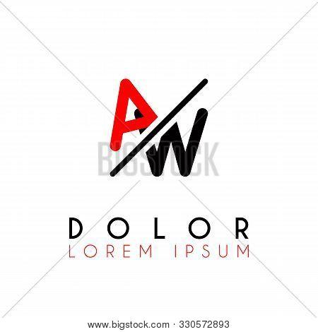 Logo A Slash W With Black Red