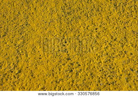 Background, Texture - Concrete Wall, Yellow. Rough Surface.