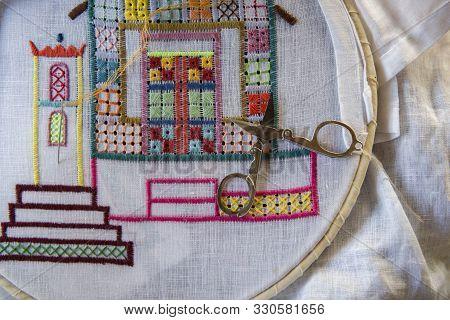 Ilha Do Ferro, Pao De Acucar, Alagoas, Brazil - June 23, 2016: Embroidery  From Ilha Do Ferro (iron