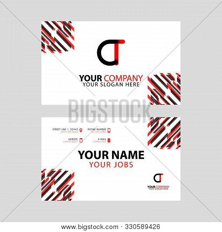 The Ct Logo Letter With Box Decoration On The Edge, And A Bonus Business Card With A Modern And Hori