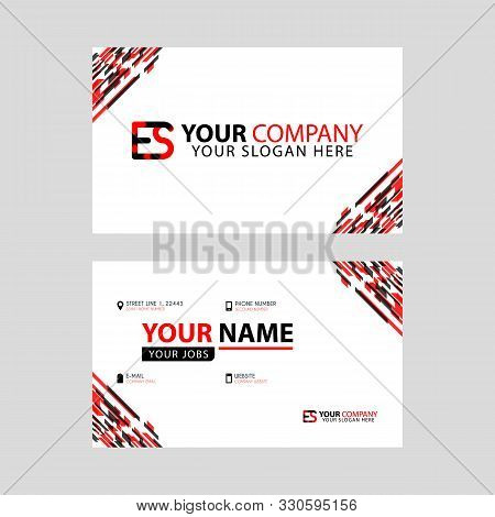 Letter Es Logo In Black Which Is Included In A Name Card Or Simple Business Card With A Horizontal T