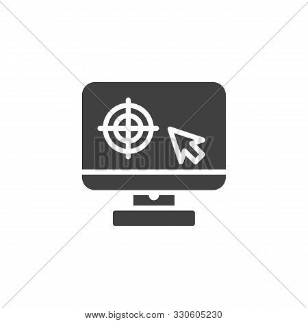 Monitor Calibration Vector Icon. Filled Flat Sign For Mobile Concept And Web Design. Computer Monito