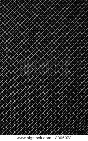 Texture Of A Black Metal Grill
