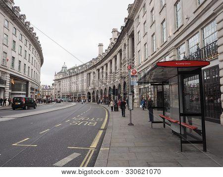 London, Uk - Circa September 2019: People In Regent Street Crescent