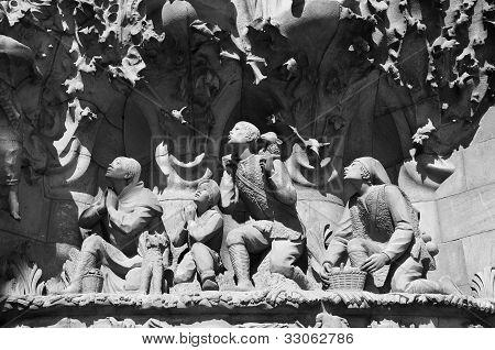 Shepherds sculpture at Sagrada Familia
