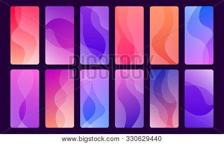 Set Of 12 Beautiful And Trendy Wallpapers For Mobile Apps.