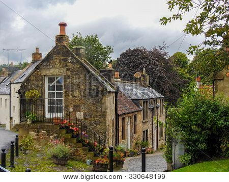 A Quaint Stone Cottage In Cuper Scotland