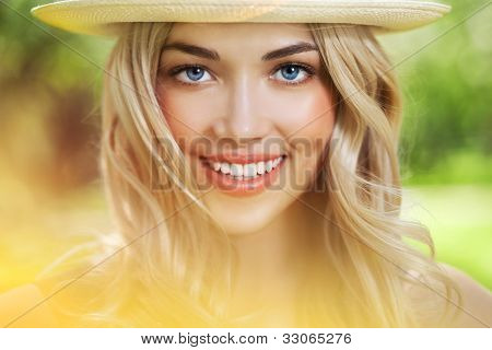 Close-up Of A Smiling Happy Young Beautiful Woman
