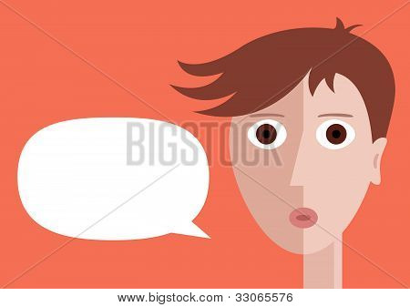 Boy with speech bubble