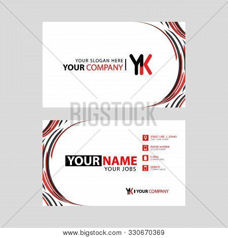 Letter Yk Logo In Black Which Is Included In A Name Card Or Simple Business Card With A Horizontal T