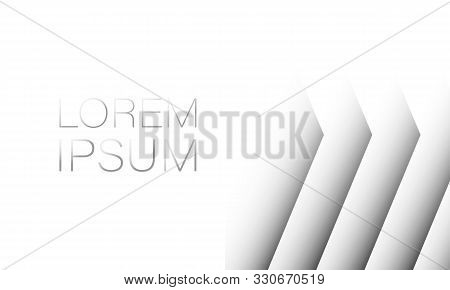 White Abstract Background Copy Space. Template For Text. Shadows 3d Vector Lorem Ipsum Eps10 Mock Up
