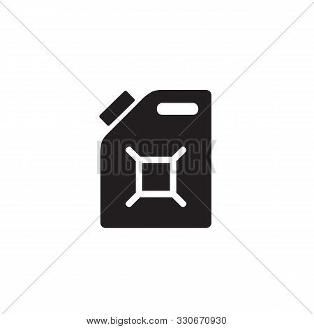 Gasoline Canister Vector Icon. Filled Flat Sign For Mobile Concept And Web Design. Jerrycan Glyph Ic