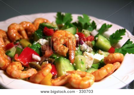 Greek-style Shrimp Salad