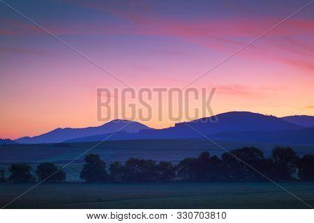 Rural Landscape In Turiec Region, Northern Slovakia.