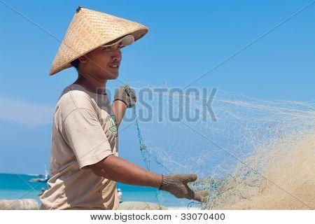 balinesische Fischer