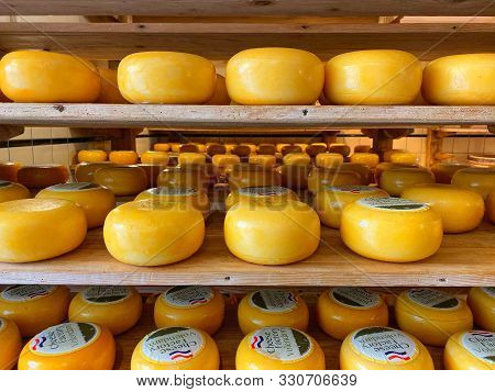Volendam,netherlands-october 7,2019:cheese Factory Is One Of The Newest Attractions In The Centre Of