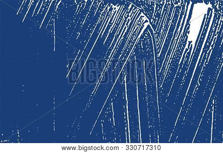 Grunge Texture. Distress Indigo Rough Trace. Exceptional Background. Noise Dirty Grunge Texture. Out