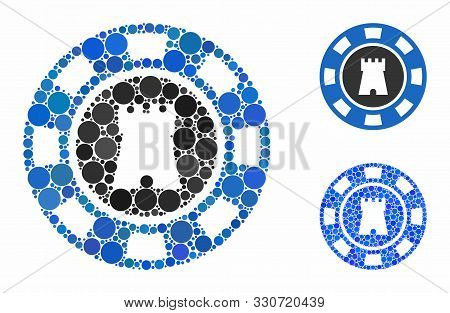Bulwark Casino Chip Composition Of Circle Elements In Different Sizes And Color Tones, Based On Bulw