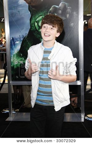LOS ANGELES - JUNE 15: Greyson Chance at the premiere of Warner Bros. Pictures' 'Green Lantern' held at Grauman's Chinese Theatre in Los Angeles,CA on June 15, 2011.