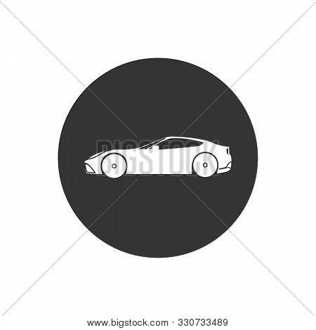 Car Flat Icon Vector Illustration Flat Style