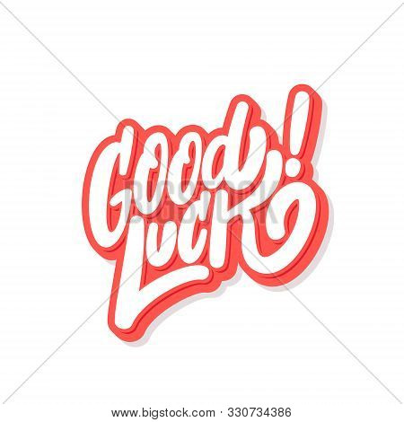 Good Luck. Farewell Card. Vector Hand Drawn Illustration.
