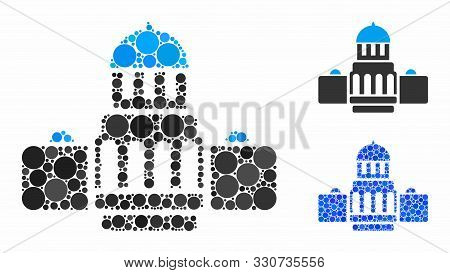 Government Buildings Composition Of Round Dots In Variable Sizes And Color Tints, Based On Governmen