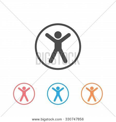 Accessibility Icon Set Universal Access Vector Illustration Flat Style