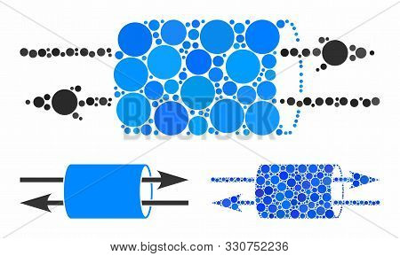 Vpn Pipe Mosaic Of Filled Circles In Various Sizes And Color Tones, Based On Vpn Pipe Icon. Vector R
