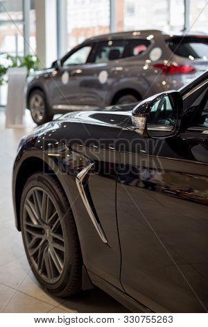 Russia, Izhevsk - October 10, 2019: Hyundai Showroom. New Genesis G70 In The Dealer Showroom.