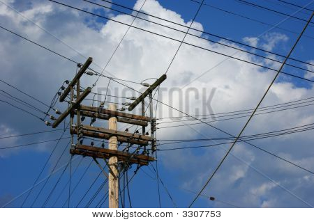 Hydro Pole And Lines