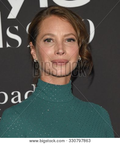 LOS ANGELES - OCT 21:  Christy Turlington arrives for the 2019 InStyle Awards on October 21, 2019 in Los Angeles, CA