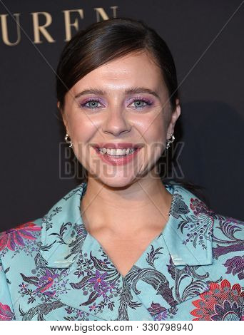 LOS ANGELES - OCT 14:  Bel Powley arrives for the ELLE Women in Hollywood on October 14, 2019 in Westwood, CA