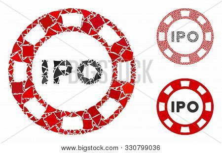 Ipo Token Composition Of Tremulant Pieces In Variable Sizes And Shades, Based On Ipo Token Icon. Vec