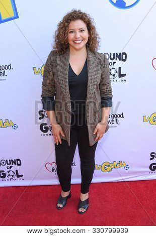 LOS ANGELES - OCT 12:  Justina Machado arrives for the LaGolda Short Film Screening 'Game Changer' on October 12, 2019 in Hollywood, CA