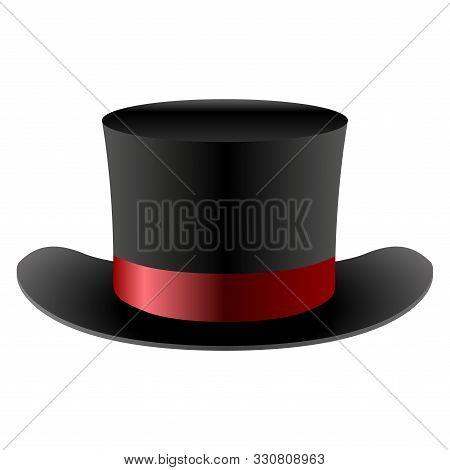 Isolated Top Hat. Gentleman Hat - Vector Illustration