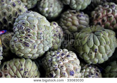 Custard apple also known as Fruta-do-conde in Brazil