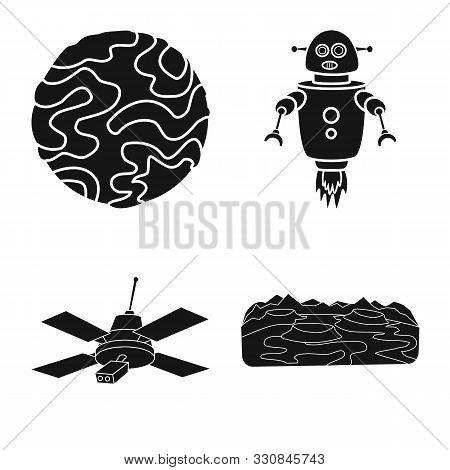 Isolated Object Of Colonization And Sky Symbol. Set Of Colonization And Galaxy Vector Icon For Stock