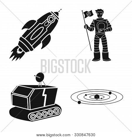 Isolated Object Of Colonization And Sky Icon. Collection Of Colonization And Galaxy Vector Icon For