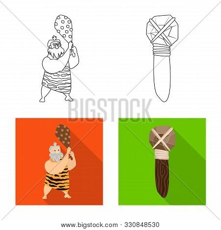 Vector Design Of Evolution And Prehistory Icon. Set Of Evolution And Development Stock Vector Illust
