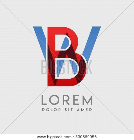 Bw Logo Letters With Blue And Red Gradation