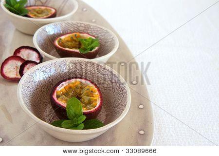 Granedilla Fruits On A Plate