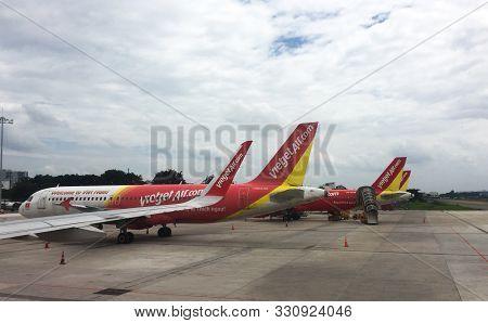 Airplanes Docking At Tan Son Nhat Airport