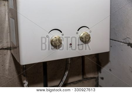 Gas Water Heater In The Technical Room.