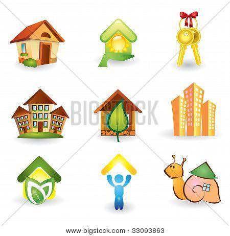 Real Estate -  Icon Set