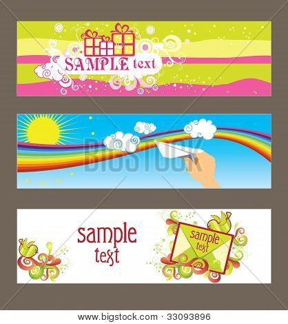Three Vector Cards